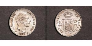 10 Centimo Filipinas Plata