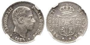 10 Centimo Philippines Silver