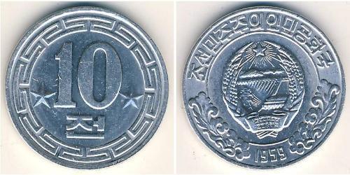 10 Chon Corea del Nord Alluminio