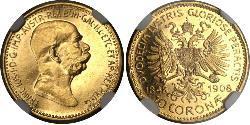 10 Corona Österreich-Ungarn (1867-1918) Gold Franz Joseph I (1830 - 1916)