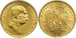 10 Corona Imperio austrohúngaro (1867-1918) Oro Franz Joseph I (1830 - 1916)