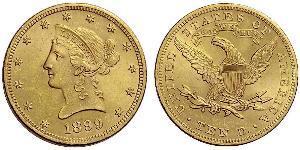 10 Dólar Estados Unidos de América (1776 - ) Oro