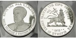 10 Dólar Etiopía Plata Haile Selassie