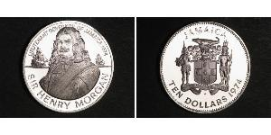 10 Dólar Jamaica (1962 - ) Plata Henry Morgan