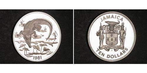 10 Dólar Jamaica (1962 - ) Plata
