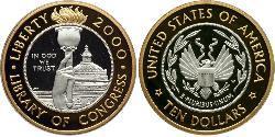 10 Dólar Estados Unidos de América (1776 - ) Platino/Oro