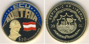 10 Dólar Liberia