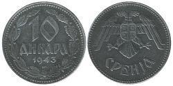 10 Denaro Serbia Zinco