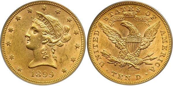 10 Dollar 美利堅合眾國 (1776 - ) 金