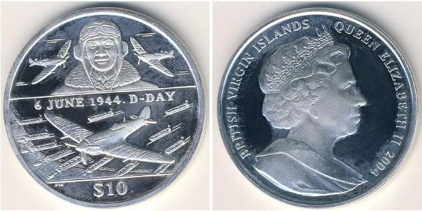 10 Dollar 维尔京群岛 銀