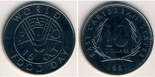 10 Dollar  銅/镍