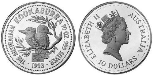 10 Dollar Australie (1939 - ) Argent Elizabeth II (1926-)