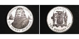 10 Dollar Jamayica (1962 - ) Argent Henry Morgan