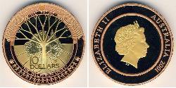 10 Dollar Australia (1939 - ) Bimetal