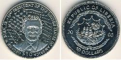 10 Dollar Liberia Copper/Nickel George W. Bush (1946 - )