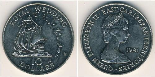 10 Dollar  Copper/Nickel Elizabeth II (1926-)