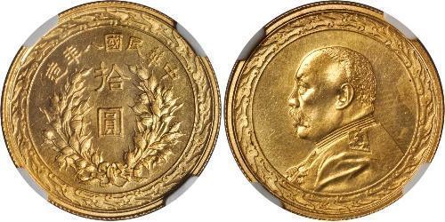 10 Dollar Volksrepublik China Gold