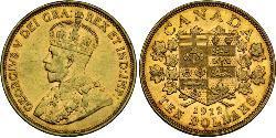 10 Dollar Canada Or George V (1865-1936)