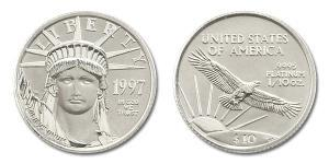 10 Dollar USA (1776 - ) Platinum