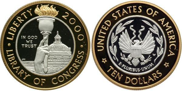10 Dollar 美利堅合眾國 (1776 - ) Platinum/金