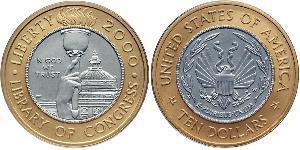 10 Dollar USA (1776 - ) Platinum/Gold
