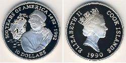 10 Dollar Cookinseln Silber