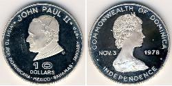 10 Dollar Dominica Silber