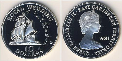 10 Dollar  Silber Elizabeth II (1926-)