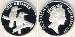 10 Dollar Australia (1939 - ) Silver Elizabeth II (1926-)