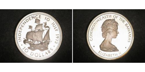 10 Dollar Bahamas Silver Elizabeth II (1926-)