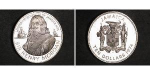 10 Dollar Jamaica (1962 - ) Silver Henry Morgan