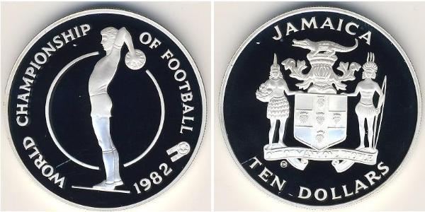 10 Dollar Jamaica (1962 - ) Silver