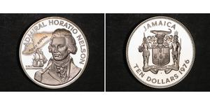 10 Dollaro Giamaica (1962 - ) Argento Horatio Nelson