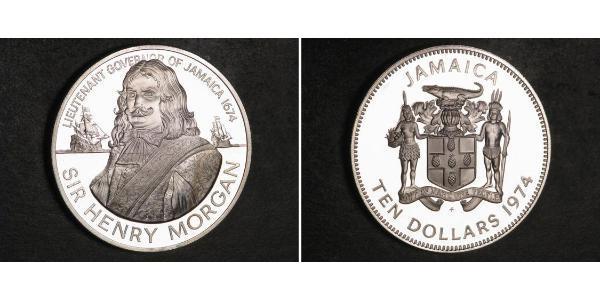 10 Dollaro Giamaica (1962 - ) Argento Henry Morgan