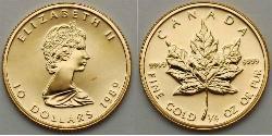 10 Dollaro Canada Oro Elisabetta II (1926-)