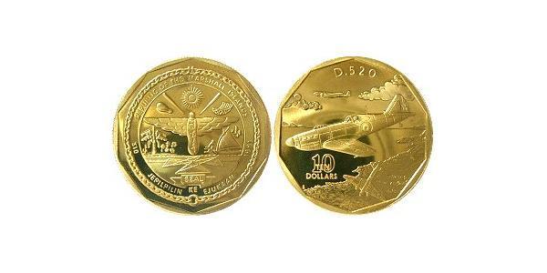 10 Dollaro Isole Marshall Ottone