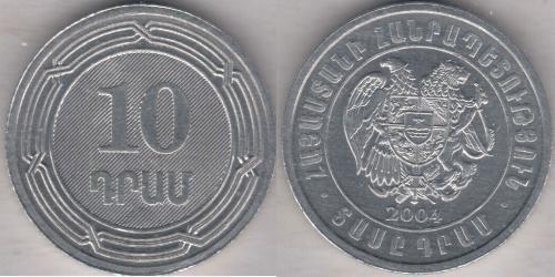 10 Dram Armenia (1991 - ) Aluminium