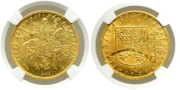 10 Ducat Tschechoslowakei  (1918-1992) Gold
