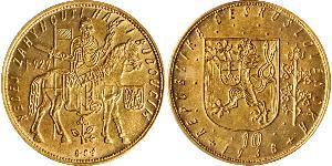 10 Ducat Checoslovaquia  (1918-1992) Oro