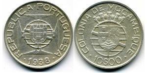 10 Escudo Mozambico Argento