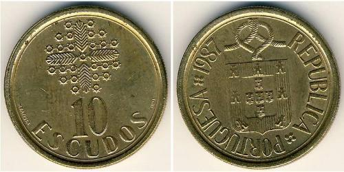 10 Escudo Republica Portuguesa (1975 - ) Messing