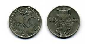 10 Escudo Estado Nuevo (Portugal) (1933 - 1974) Plata