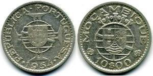 10 Escudo Mosambik Silber