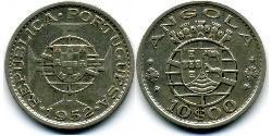 10 Escudo Portuguese Angola (1575-1975) / Portugal Silver