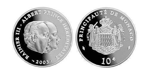10 Euro Monaco 銀
