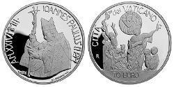 10 Euro Vaticano (1926-) Argento John Paul II (1920 - 2005)
