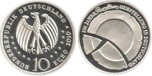 10 Euro Alemania (1990 - ) Plata