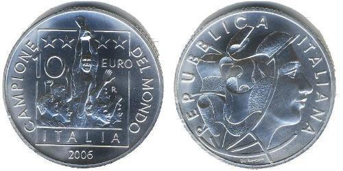 10 Euro Italia Plata