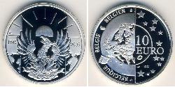 10 Euro Belgium Silver