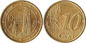 10 Eurocent 奥地利 銅